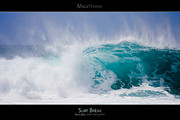 Surf Lifestyle Acrylic Prints - Surf Break - Maui Hawaii Posters Series Acrylic Print by Denis Dore