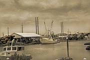 Shrimp Boat Prints - Surf City North Carolina Print by Betsy A Cutler East Coast Barrier Islands