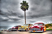 Woodies Framed Prints - Surf City Woodies Framed Print by Robert Kaler