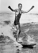 Only Mid Adult Men Prints - Surf Man Print by Hulton Collection