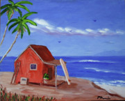 Calif. On Google Painting Originals - Surf Overlook by Bob Phillips