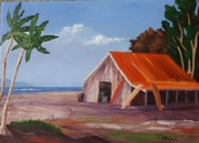 Calif. On Google Painting Originals - Surf School by Bob Phillips