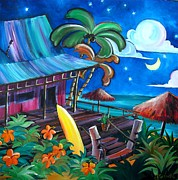 Surf Art Posters - Surf Shack Poster by Jerri Grindle