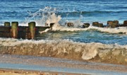 Seascapes - Surf Stir - Jersey Shore by Angie McKenzie