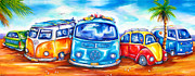 Bulli Paintings - Surf Wagons by Deb Broughton