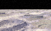 Craters Prints - Surface Of Callisto, A Jovian Moon Print by Christian Darkin