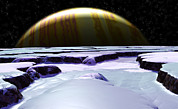Ice Floes Art - Surface Of Europa, Artwork by Christian Darkin