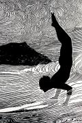 Ink Drawing Paintings - Surfer and Waikiki by Hawaiian Legacy Archive - Printscapes