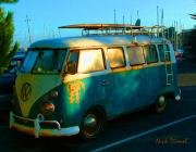 Combie Prints - Surfer Bus Print by Nick Diemel
