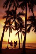 Surfer Couple Print by Dana Edmunds - Printscapes