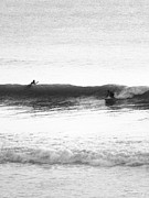 Seashore Mixed Media - Surfer Dudes 2 BW by Maria Eames
