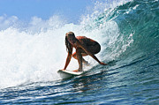 Girl Sports Posters - Surfer Girl at Bowls 8 Poster by Paul Topp