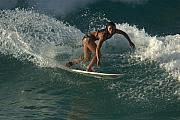 Surfer Art Metal Prints - Surfer Girl Metal Print by Brad Scott