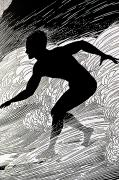Ink Drawing Paintings - Surfer by Hawaiian Legacy Archive - Printscapes