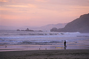 Nature Study Photo Prints - Surfer in Thought Print by Ei Katsumata