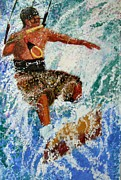 Caribbean Sea Paintings - Surfer by Marie Kinsella