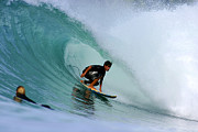 Backhand Prints - Surfer On Backhand Near Tube, Lagundri Bay, Pulau Nias, North Sumatra, Indonesia, South-east Asia Print by Paul Kennedy