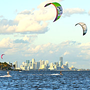 Kite Surfing Originals - Surfin Miami by Dieter  Lesche