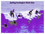 Us Open Framed Prints - Surfing Huntington Framed Print by RJ Aguilar