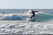Surfing Photos Metal Prints - Surfing The Atlantic Metal Print by Brian Roscorla