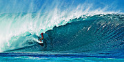 Oahu Photos - Surfing the Pipeline by Paul Topp