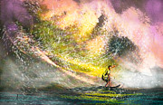 Water Sports Art Posters - Surfscape 02 Poster by Miki De Goodaboom