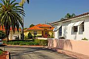 Florida House Photo Prints - Surfside neighborhood in Miami Beach Print by Zalman Lazkowicz