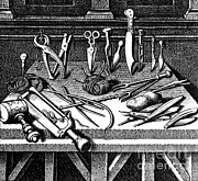 Pare Photo Framed Prints - Surgical Equipment, 16th Century Framed Print by Science Source