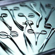 Scissors Framed Prints - Surgical Equipment Framed Print by Adam Gault