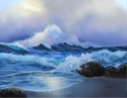 Beach Scenes Digital Art - Surging Tide by Sena Wilson