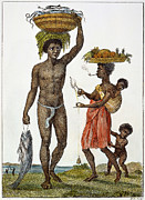 J.g Framed Prints - Surinam: Slave Family, 1796 Framed Print by Granger