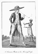 Narrative Of An Expedition Prints - Surinam: Slave Owner, 1796 Print by Granger