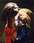 Little Boy Paintings - Surprise by Janet  Crawford