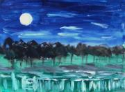 Pennsylvania Drawings - Surprise Moon by Mary Carol Williams