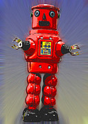 Toy Photos - Surprised Robot by L S Keely