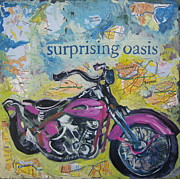 Engine. Bike Prints - Surprising Oasis Print by Tilly Strauss