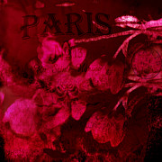 Abstract Floral Art Photos - Surreal Abstract Dark Red Impressionistic Tulips by Kathy Fornal