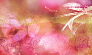 Abstract Floral Art Photos - Surreal Abstract Dreamy Pink Tulips Impressionistic by Kathy Fornal