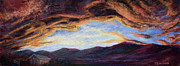 Jet Painting Prints - Surreal Sky Print by Mary Giacomini