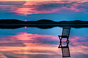 Surface Metal Prints - Surreal Sunset Metal Print by Gert Lavsen
