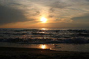 Harbor Photos - Surreal Sunset over Lake Michigan by Purcell Pictures