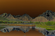 Wyoming Digital Art - Surreal Tetons by Vijay Sharon Govender