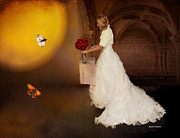 Super Castle Framed Prints - Surreal Wedding Framed Print by Angela A Stanton
