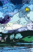 Surrealistic Landscape Print by Mindy Newman
