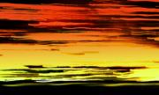 Whidbey Island Wa Prints - Surreally Sunsety Print by Louie Rochon