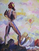 Leclair Painting Prints - Surveying Creation Print by Suzanne  Marie Leclair