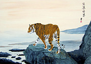 Chinese Tiger Prints - Surveying his kingdom Print by George Thomas