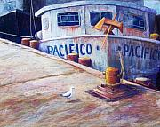 Mexican Pastels Posters - Surveying the Fleet Poster by Candy Mayer