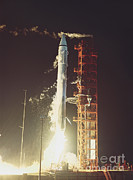 Cape Kennedy Art - Surveyor 3 Launch by Science Source