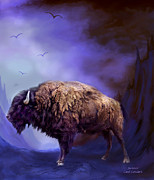 Bison Art - Survivor by Carol Cavalaris
